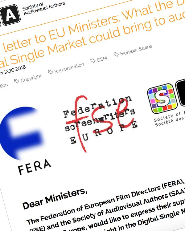 Fairness Rocks News Open letter to EU Ministers: What the Directive on Copyright in the Digital Single Market could bring to audiovisual authors