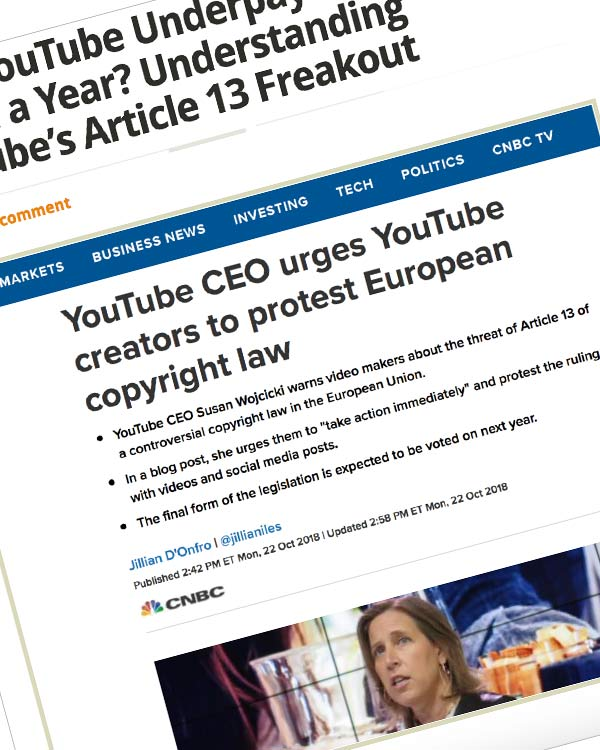 Fairness Rocks News Does YouTube Underpay Artists 13 Billion a Year? Understanding YouTube's Article 13 Freakout