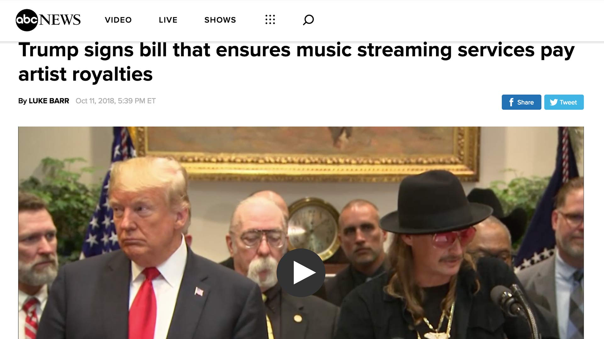 Fairness Rocks News Trump signs bill that ensures music streaming services pay artist royalties