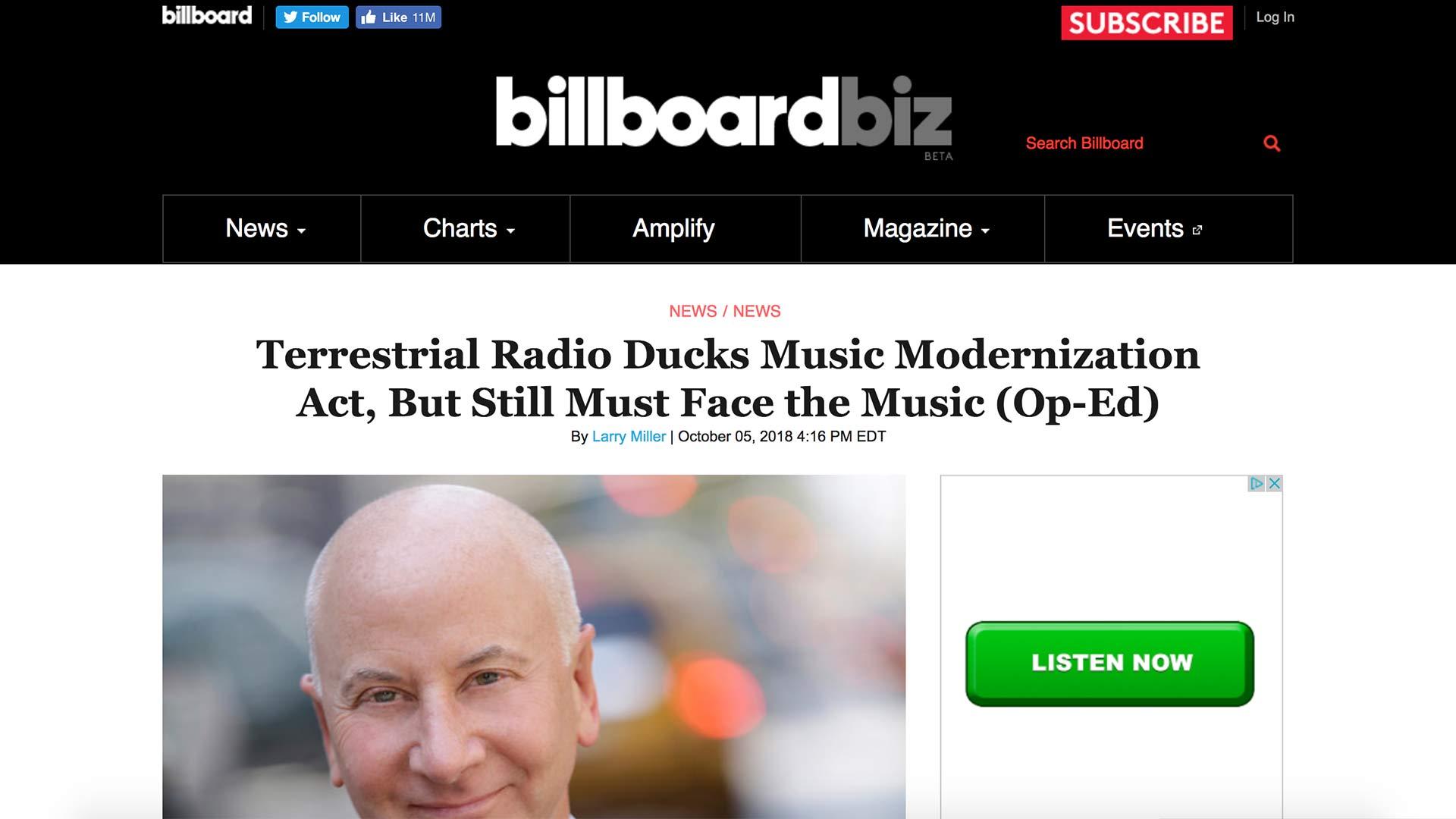 Fairness Rocks News Terrestrial Radio Ducks Music Modernization Act, But Still Must Face the Music (Op-Ed)