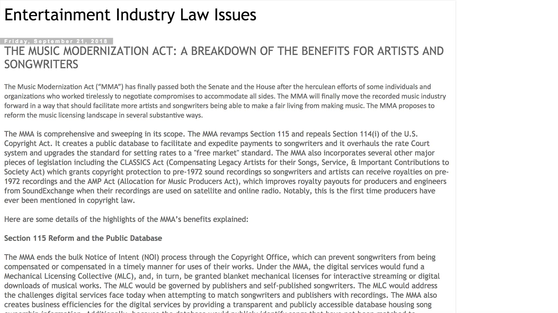 Fairness Rocks News Entertainment Industry Law Issues
