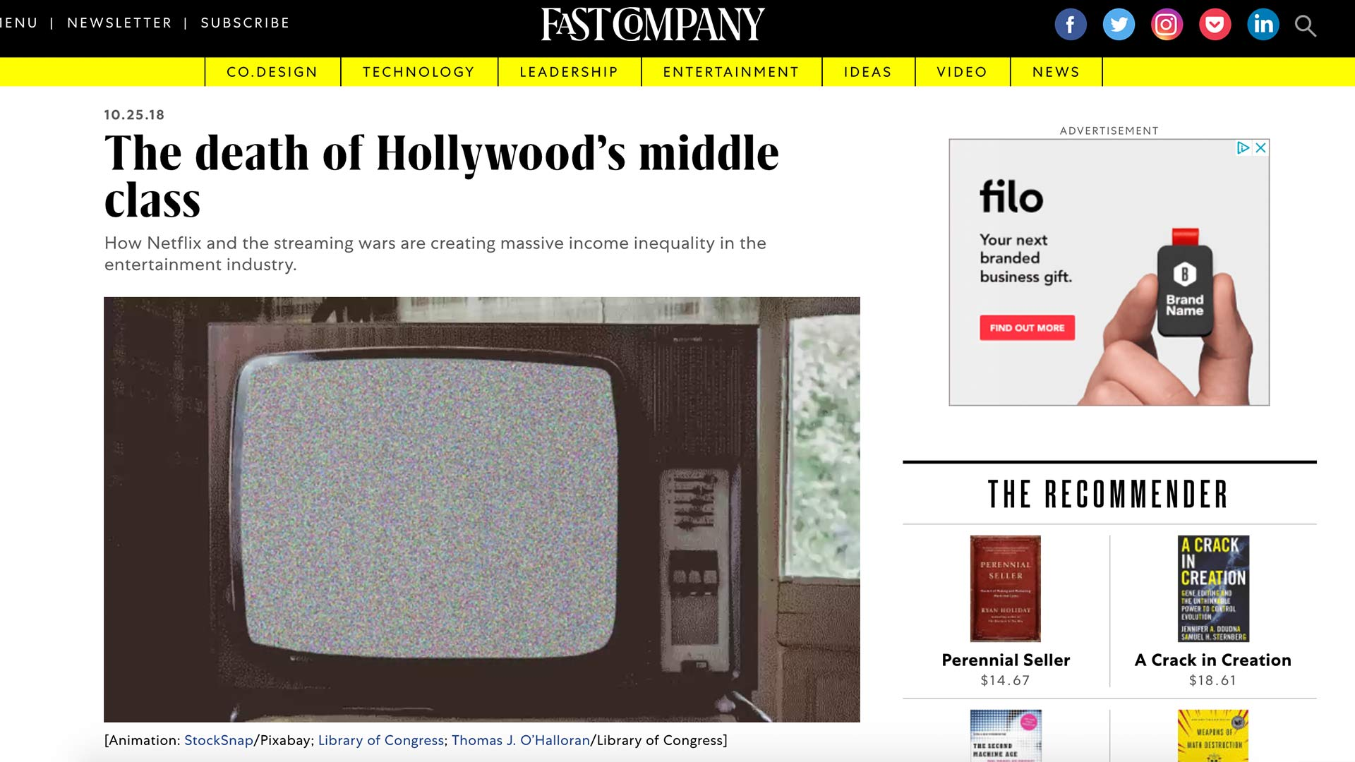 Fairness Rocks News The death of Hollywood's middle class