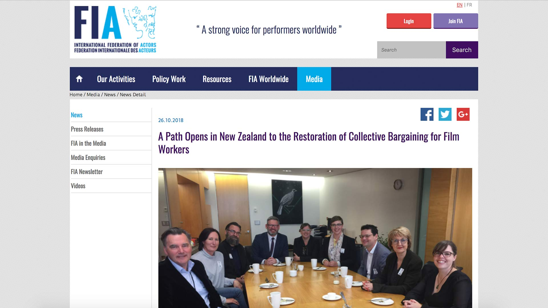 Fairness Rocks News A Path Opens in New Zealand to the Restoration of Collective Bargaining for Film Workers