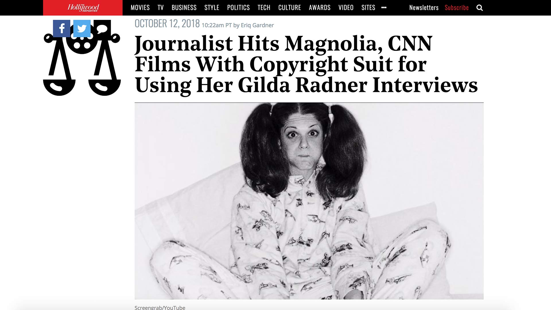 Fairness Rocks News Journalist Hits Magnolia, CNN Films With Copyright Suit for Using Her Gilda Radner Interviews