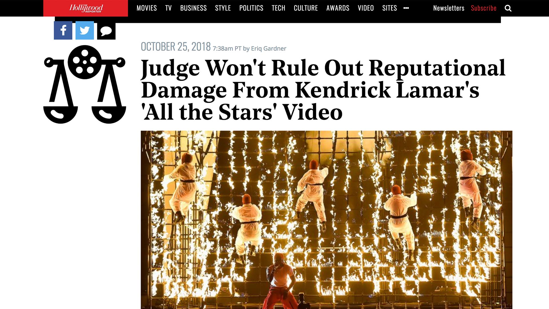 Fairness Rocks News Judge Won't Rule Out Reputational Damage From Kendrick Lamar's 'All the Stars' Video