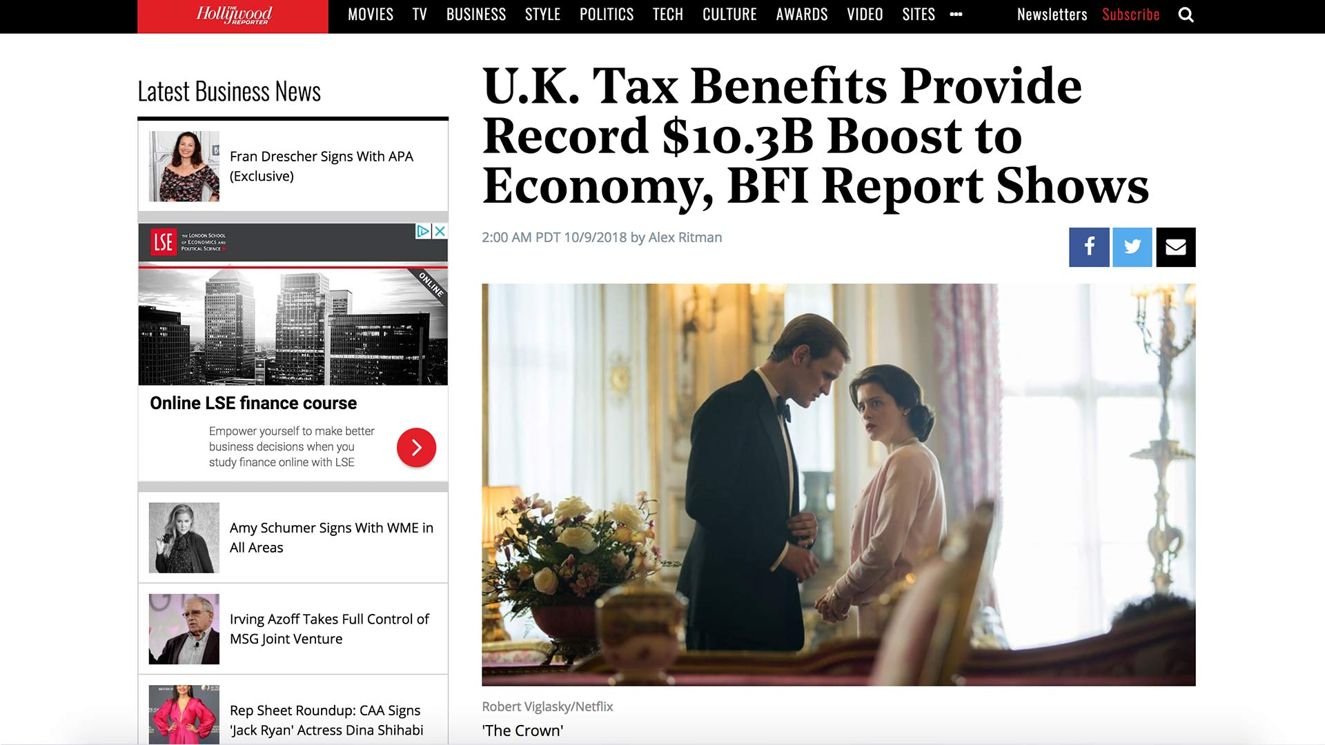 Fairness Rocks News U.K. Tax Benefits Provide Record $10.3B Boost to Economy, BFI Report Shows
