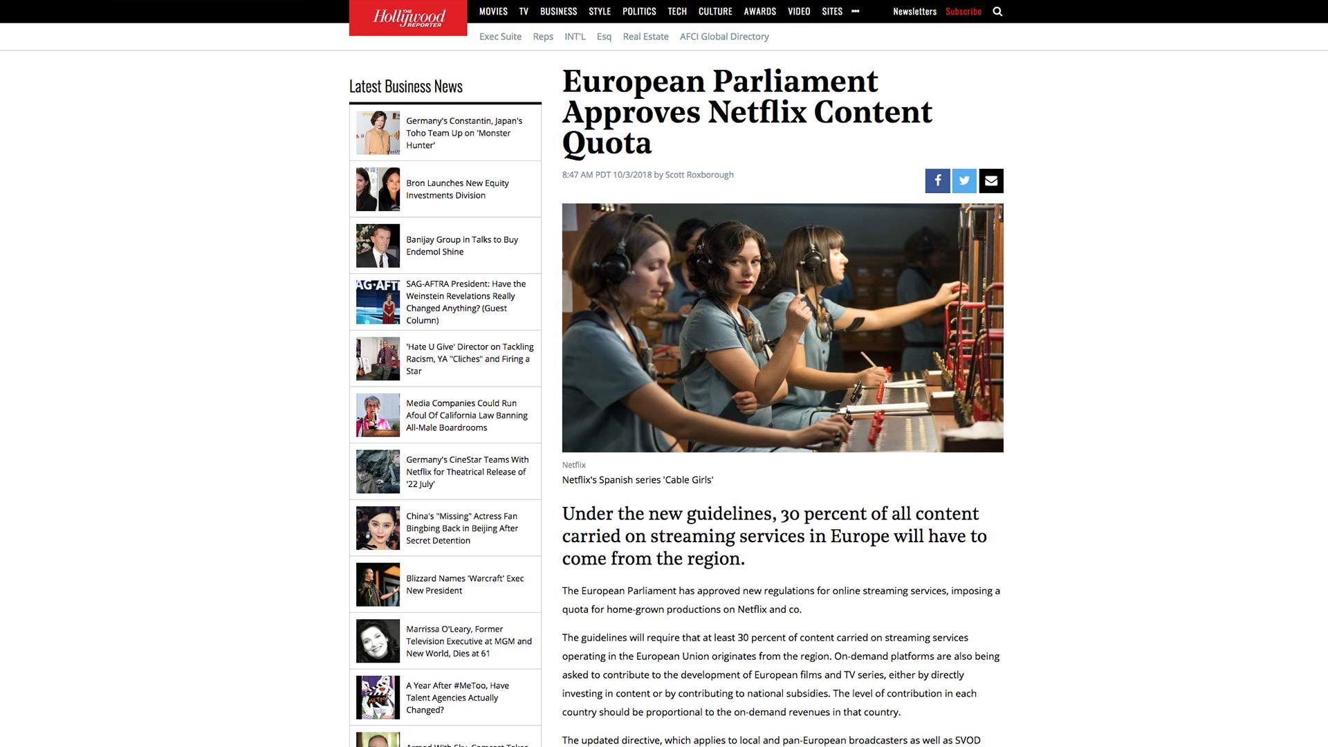 Fairness Rocks News European Parliament Approves Netflix Content Quota