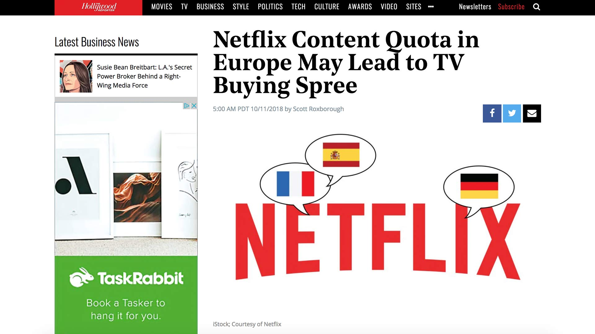 Fairness Rocks News Netflix Content Quota in Europe May Lead to TV Buying Spree