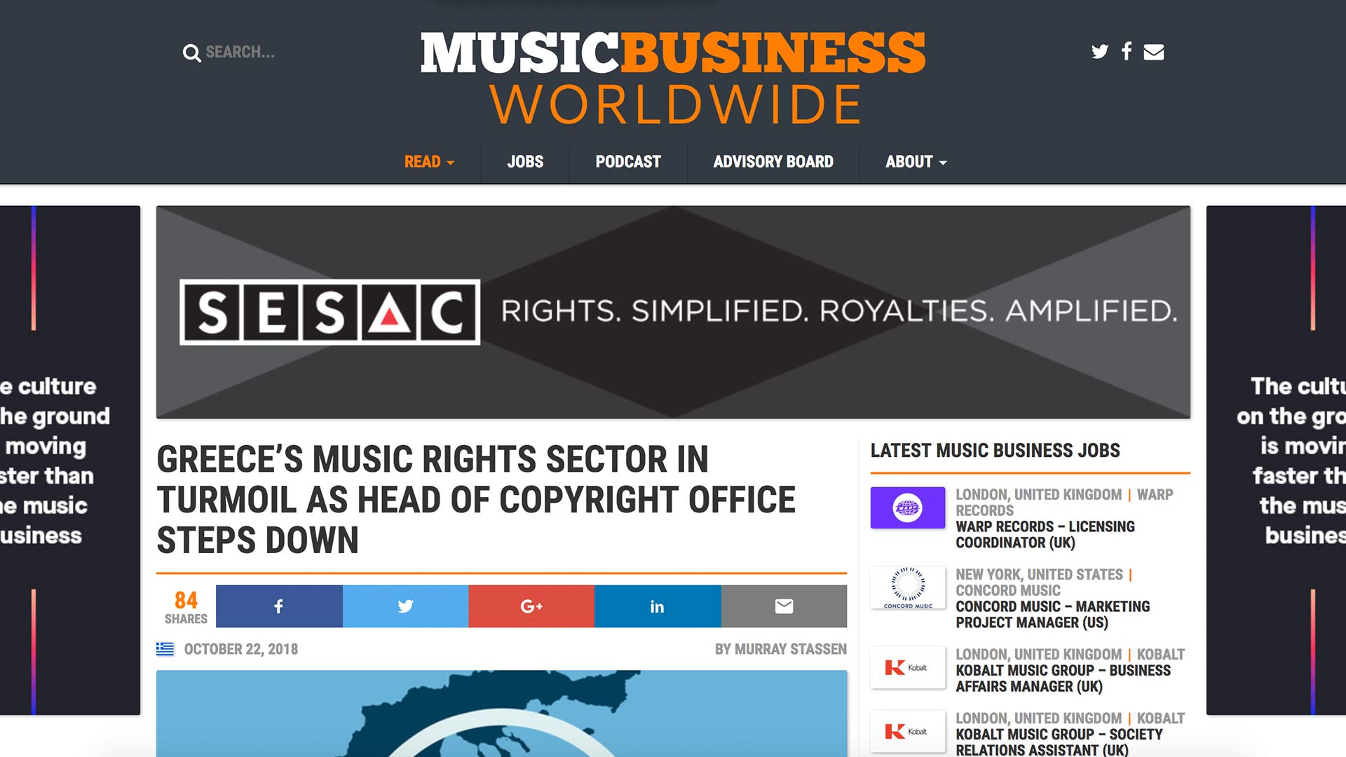 Fairness Rocks News GREECE'S MUSIC RIGHTS SECTOR IN TURMOIL AS HEAD OF COPYRIGHT OFFICE STEPS DOWN