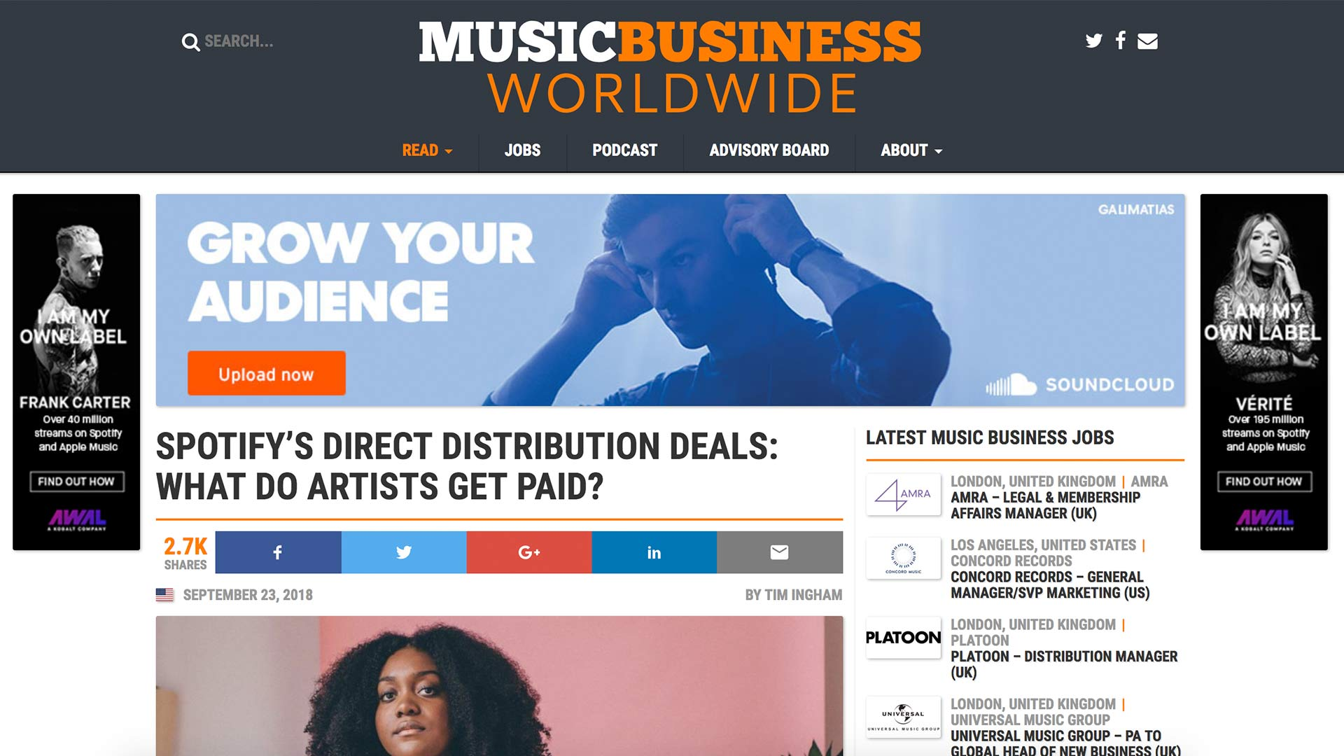 Fairness Rocks News SPOTIFY'S DIRECT DISTRIBUTION DEALS: WHAT DO ARTISTS GET PAID?