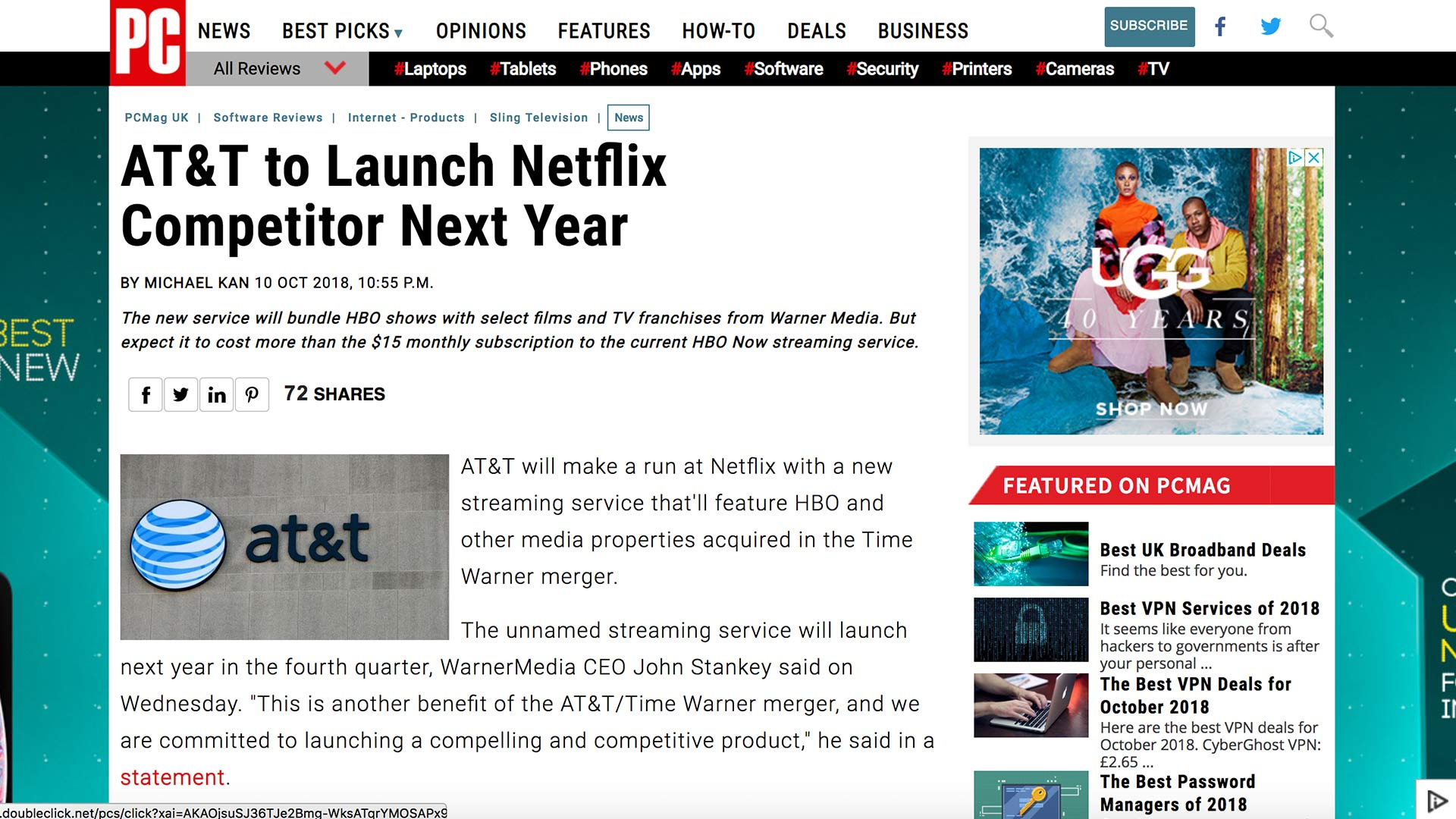 Fairness Rocks News AT&T to Launch Netflix Competitor Next Year