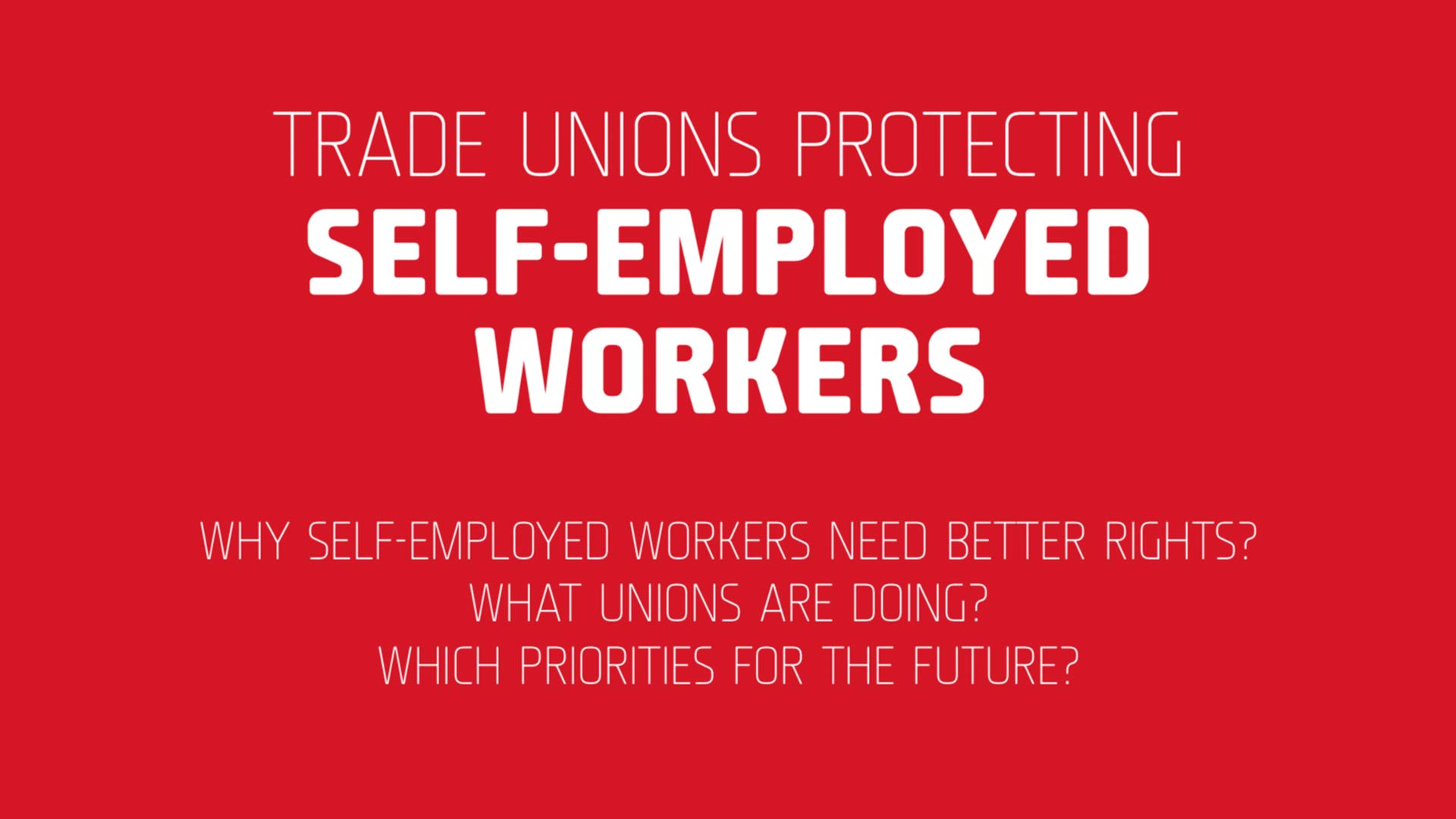 Fairness Rocks News TRADE UNIONS PROTECTING SELF-EMPLOYED WORKERS