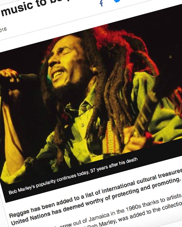 Fairness Rocks News Reggae music to be protected by the UN