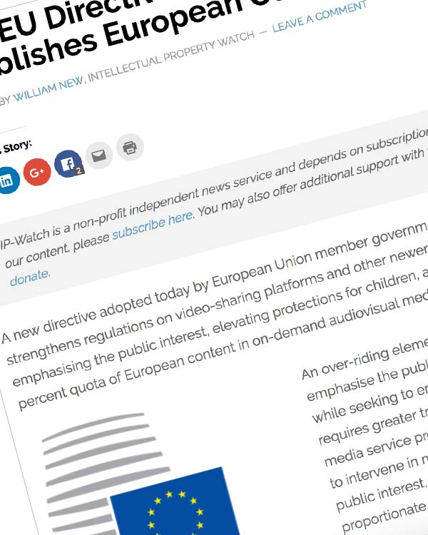 Fairness Rocks News New EU Directive Limits Hate Speech, Establishes European Content Quotas