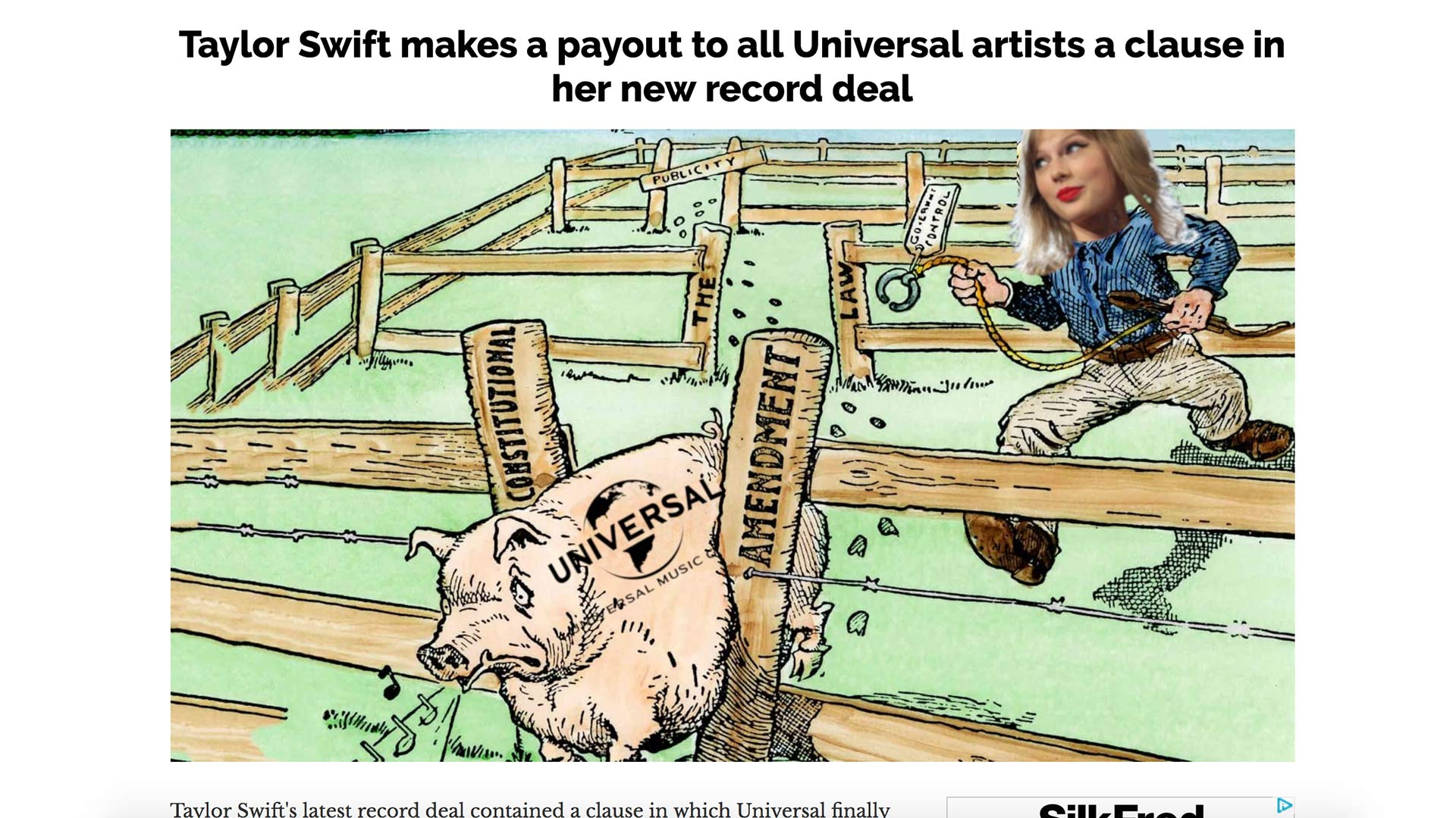 Fairness Rocks News Taylor Swift makes a payout to all Universal artists a clause in her new record deal