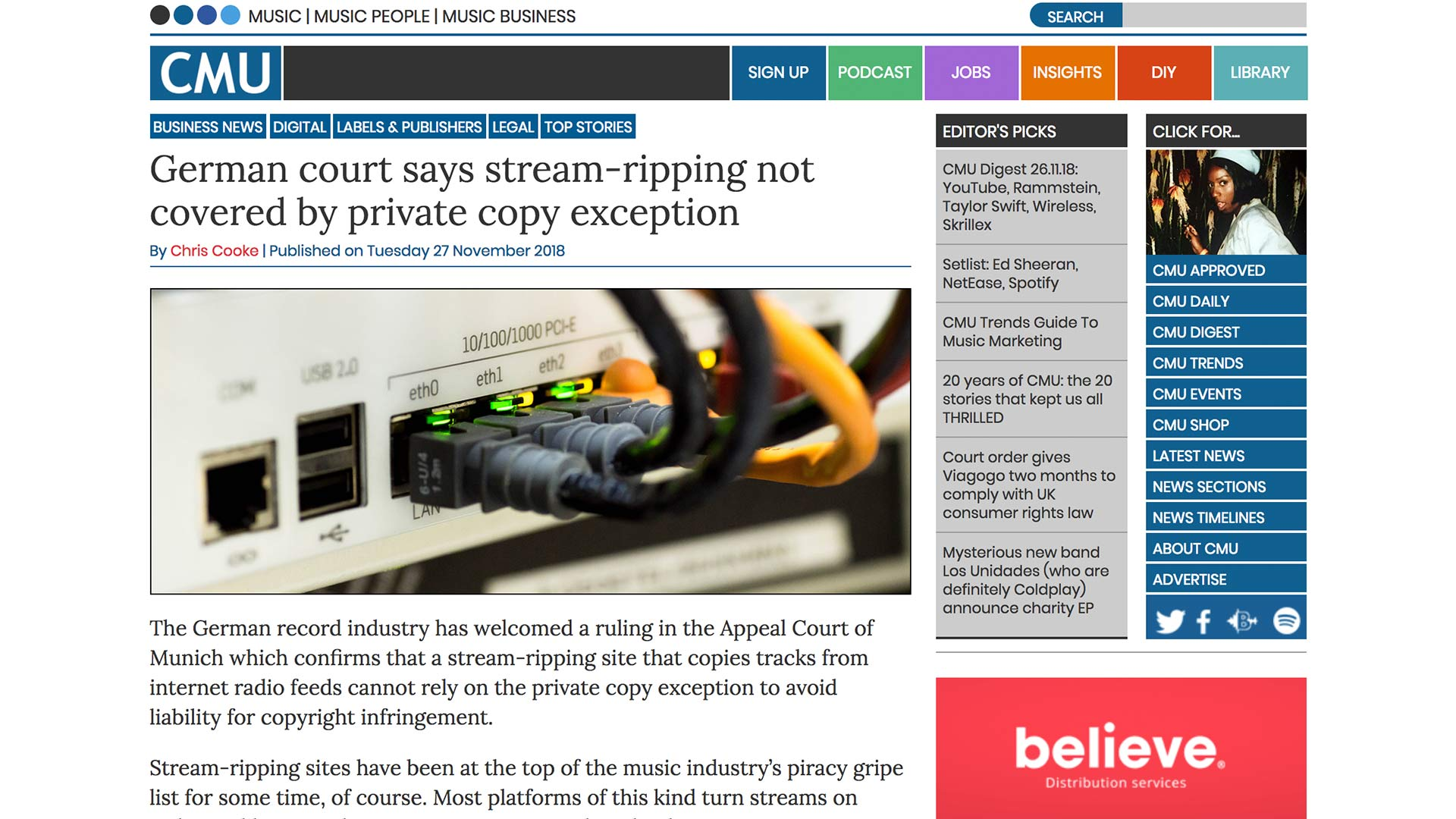 Fairness Rocks News German court says stream-ripping not covered by private copy exception