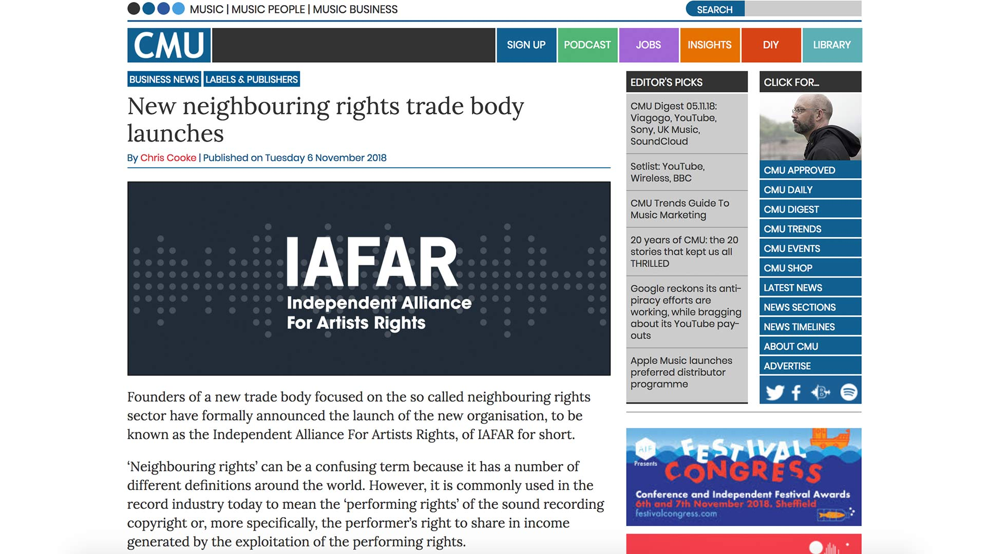 Fairness Rocks News New neighbouring rights trade body launches