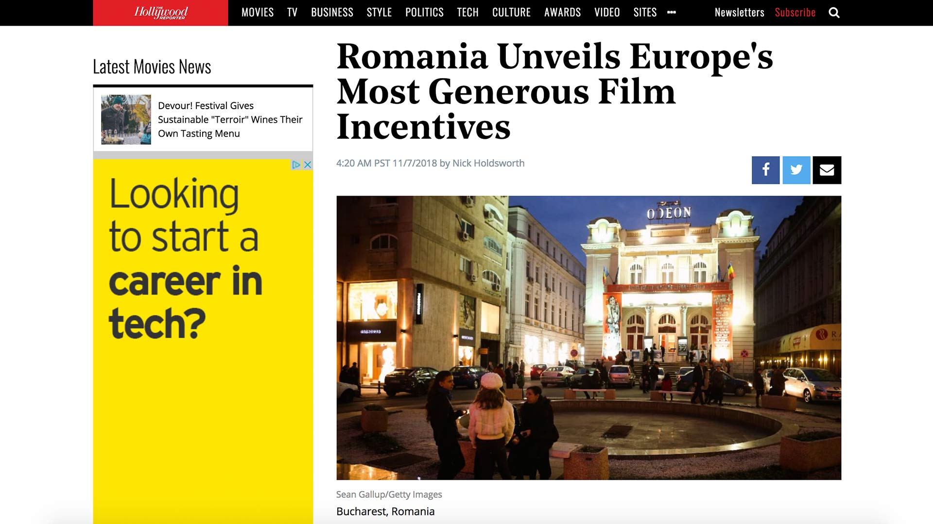 Fairness Rocks News Romania Unveils Europe's Most Generous Film Incentives