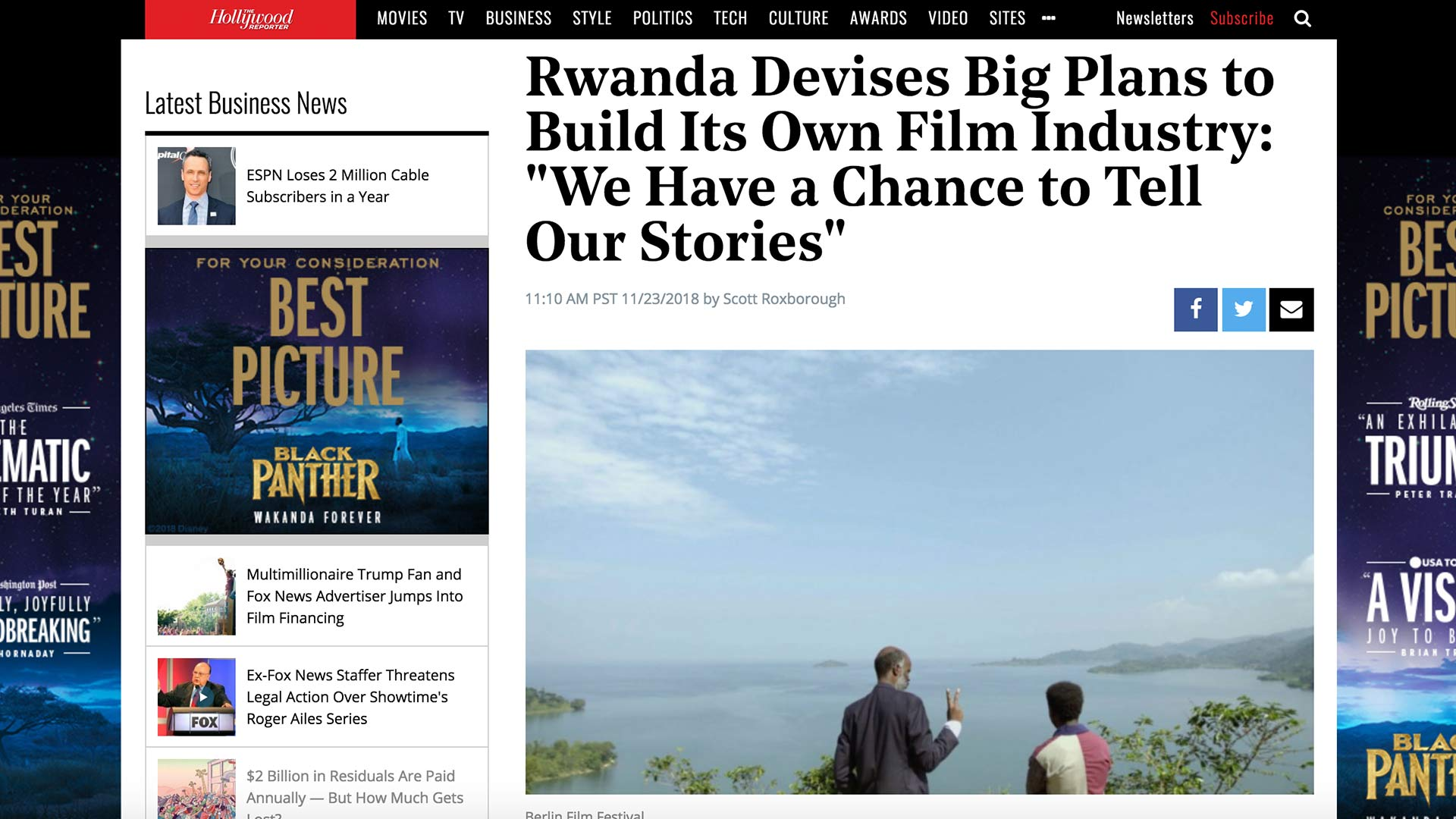"Fairness Rocks News Rwanda Devises Big Plans to Build Its Own Film Industry: ""We Have a Chance to Tell Our Stories"""
