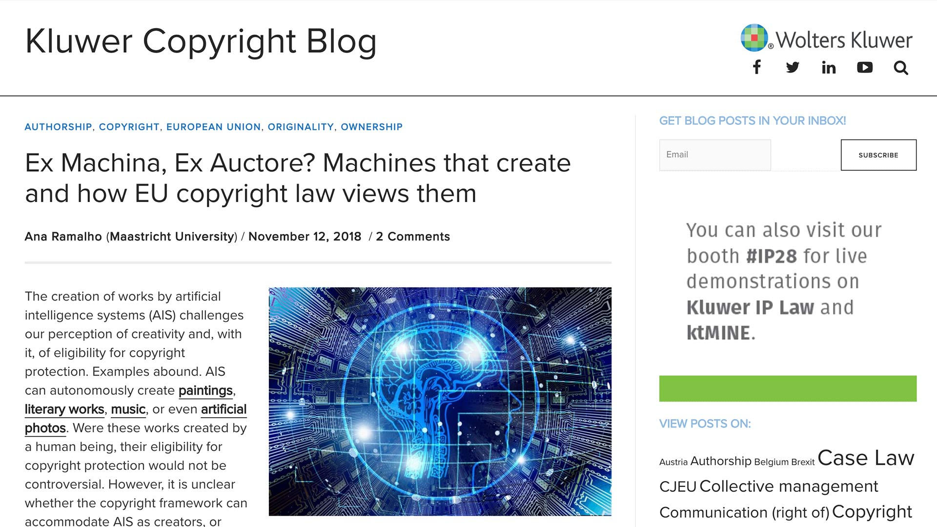 Fairness Rocks News Ex Machina, Ex Auctore? Machines that create and how EU copyright law views them