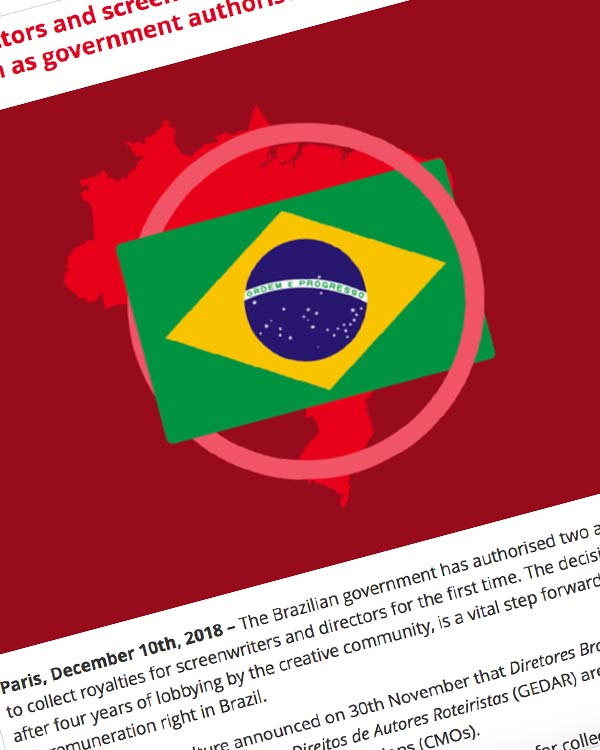 Fairness Rocks News Brazilian directors and screenwriters step closer to fair remuneration as government authorises new societies