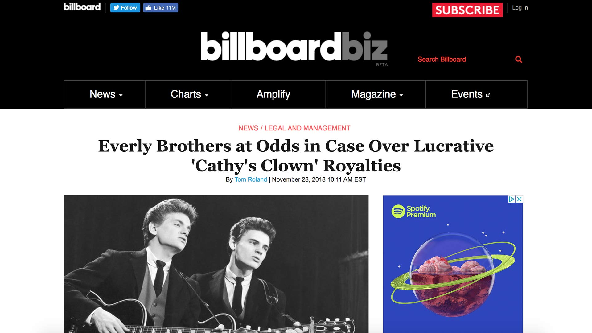 Fairness Rocks News Everly Brothers at Odds in Case Over Lucrative 'Cathy's Clown' Royalties