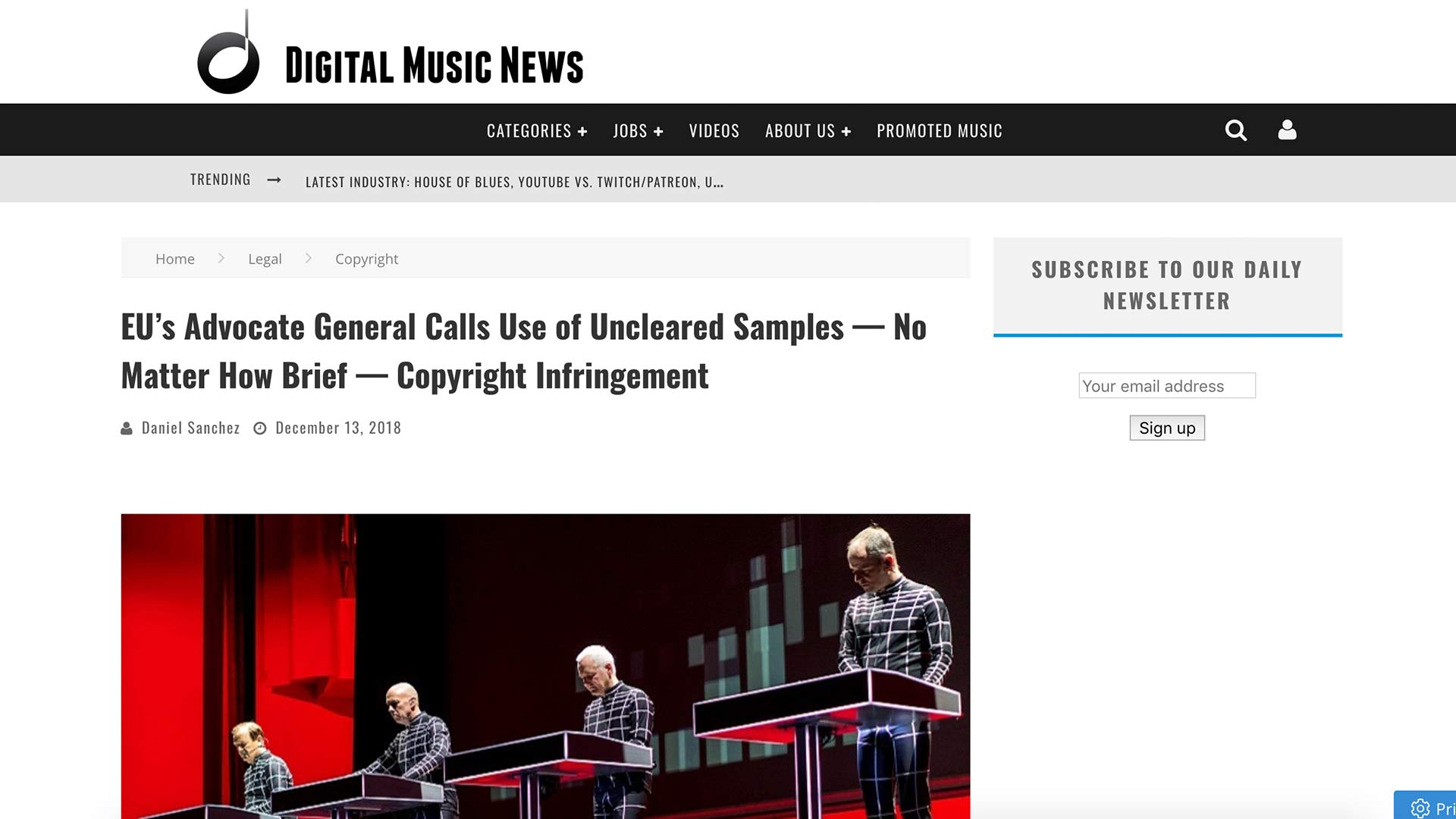 Fairness Rocks News EU's Advocate General Calls Use of Uncleared Samples — No Matter How Brief — Copyright Infringement