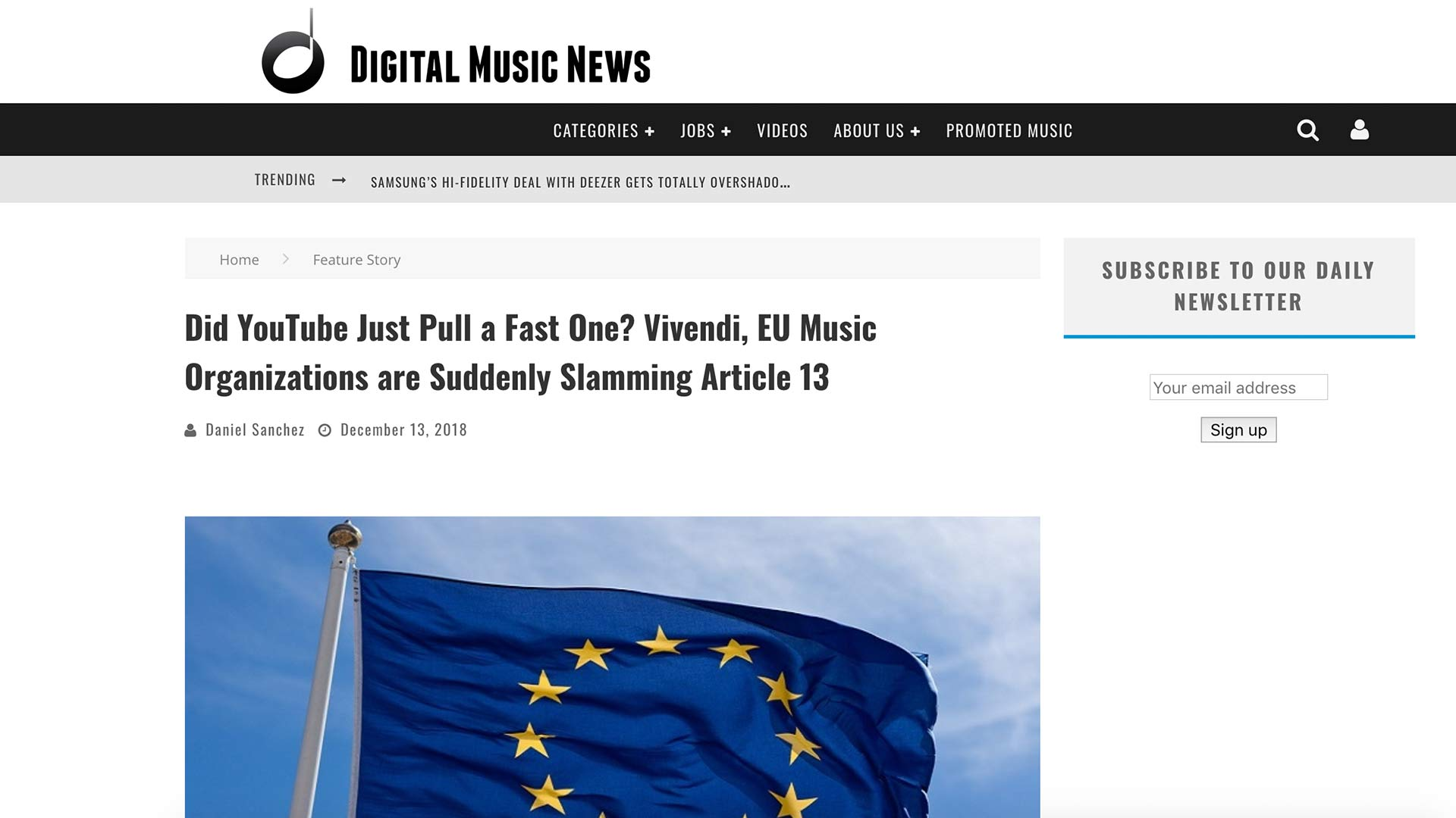 Fairness Rocks News Did YouTube Just Pull a Fast One? Vivendi, EU Music Organizations are Suddenly Slamming Article 13