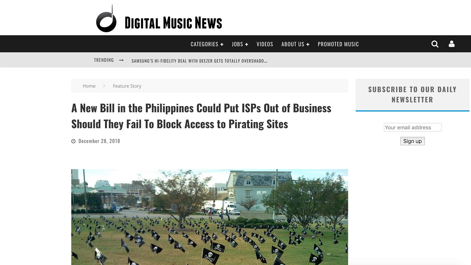 Fairness Rocks News A New Bill in the Philippines Could Put ISPs Out of Business Should They Fail To Block Access to Pirating Sites