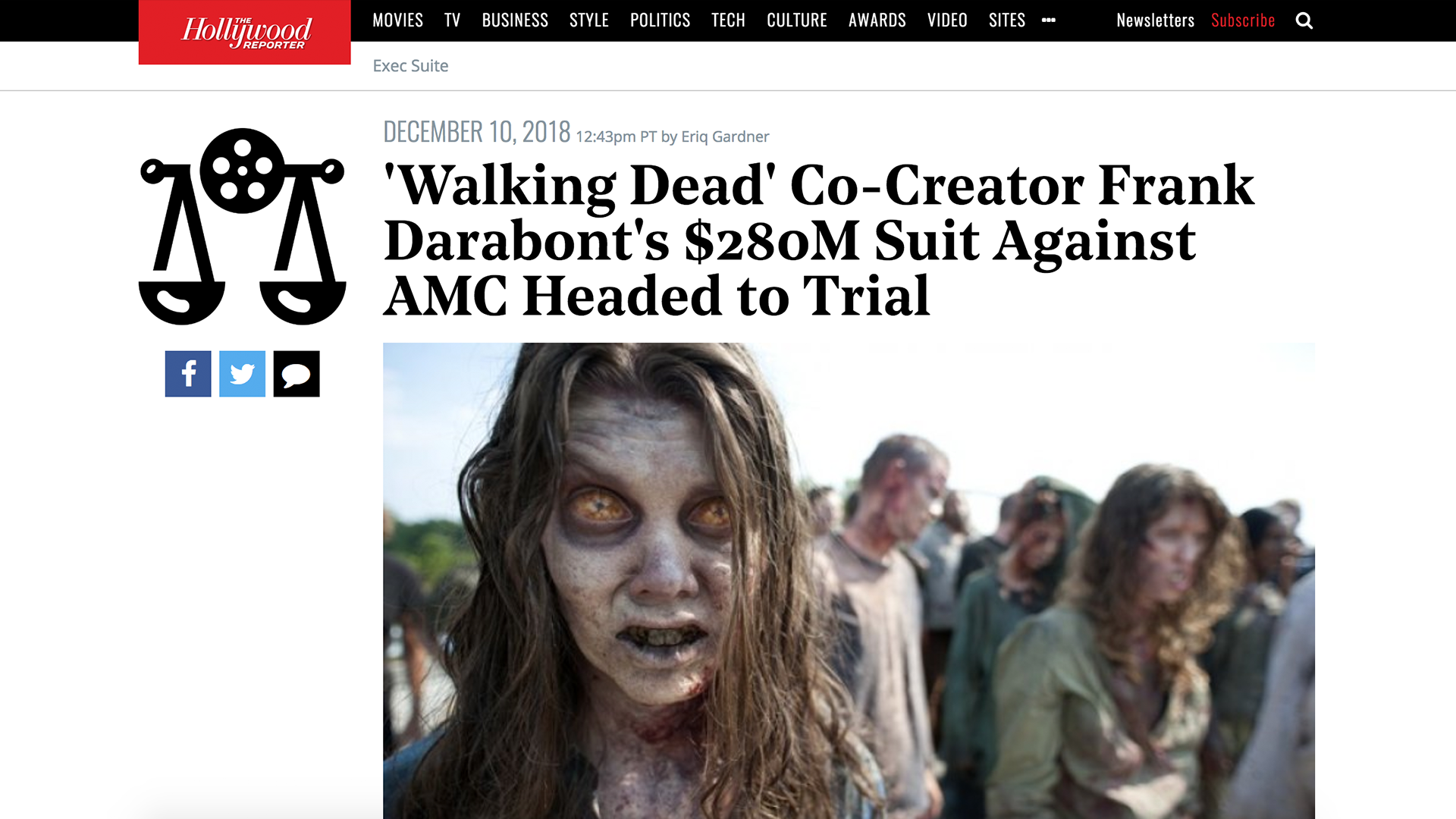 Fairness Rocks News 'Walking Dead' Co-Creator Frank Darabont's $280M Suit Against AMC Headed to Trial
