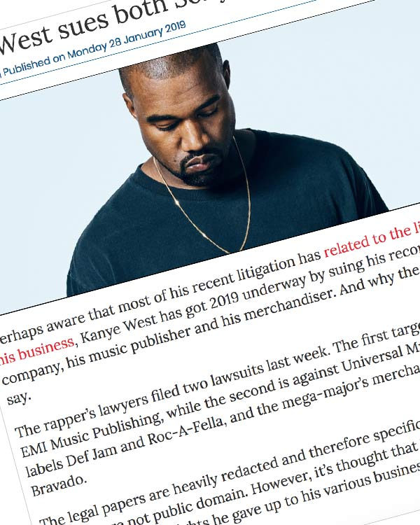 Fairness Rocks News Kanye West sues both Sony and Universal