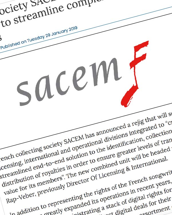 Fairness Rocks News French society SACEM announces new division to streamline complex royalty process