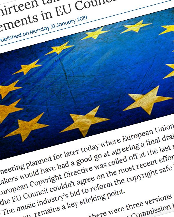 Fairness Rocks News Article thirteen talks postponed because of disagreements in EU Council