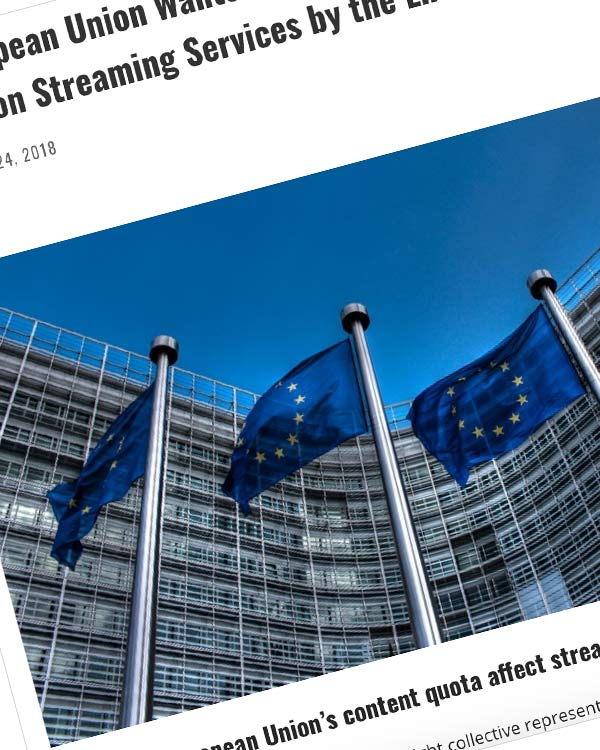 Fairness Rocks News The European Union Wants to Implement Forced Content Quotas on Streaming Services by the End of 2019