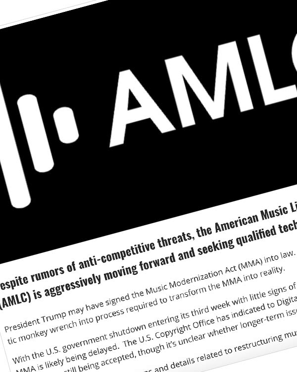 Fairness Rocks News The AMLC Takes Another Big Step Towards Implementing the Music Modernization Act