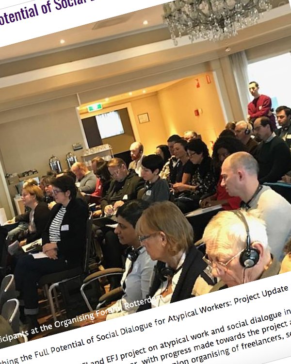 Fairness Rocks News Reaching the Full Potential of Social Dialogue for Atypical Workers: Project Update