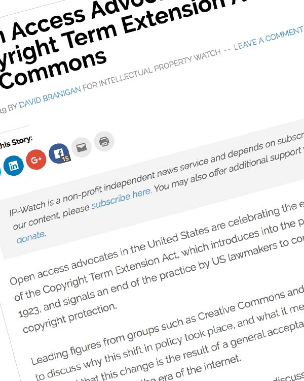 Fairness Rocks News Open Access Advocates See End Of US Copyright Term Extension Act As Win For Commons