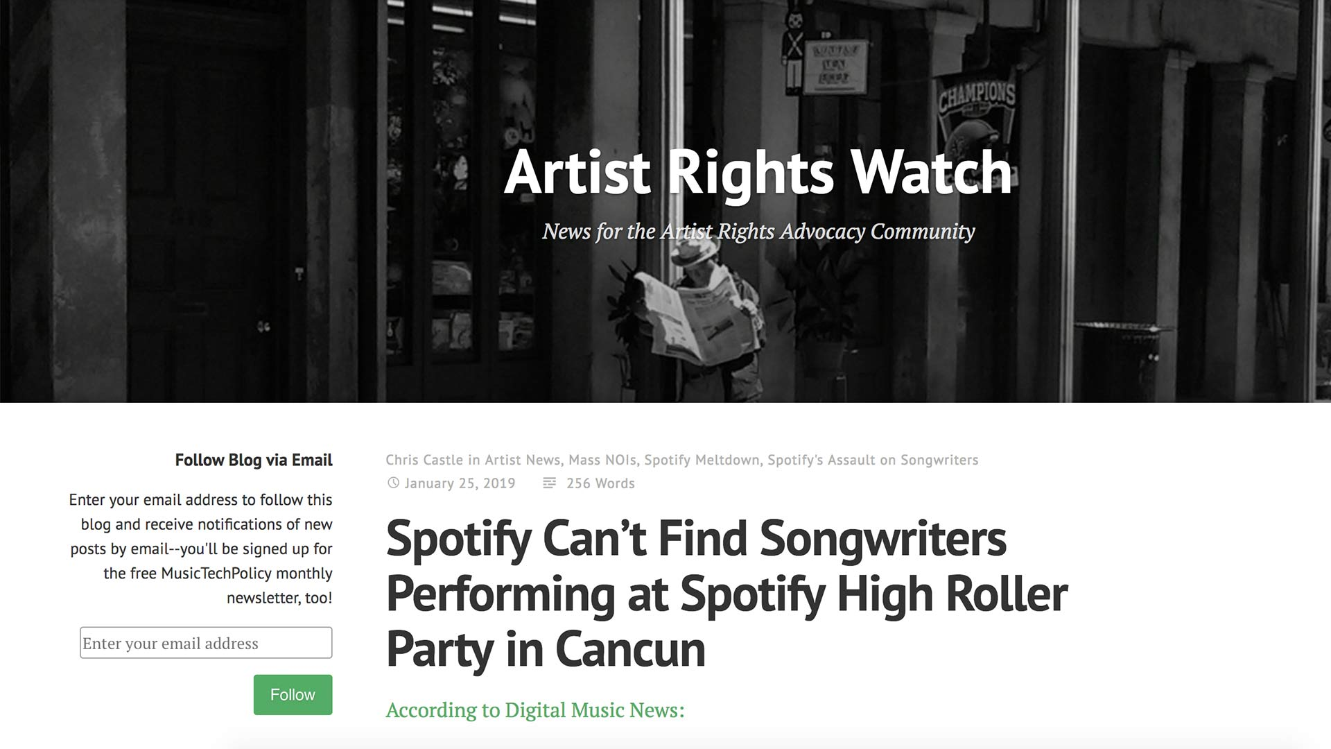 Fairness Rocks News Spotify Can't Find Songwriters Performing at Spotify High Roller Party in Cancun