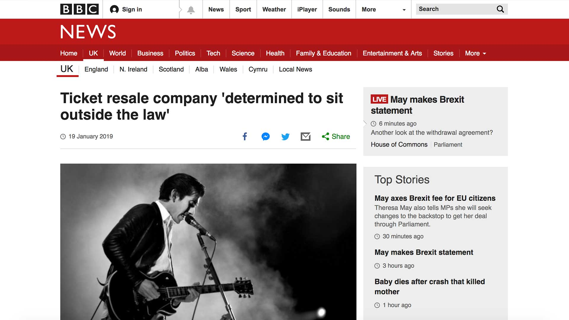 Fairness Rocks News Ticket resale company 'determined to sit outside the law'