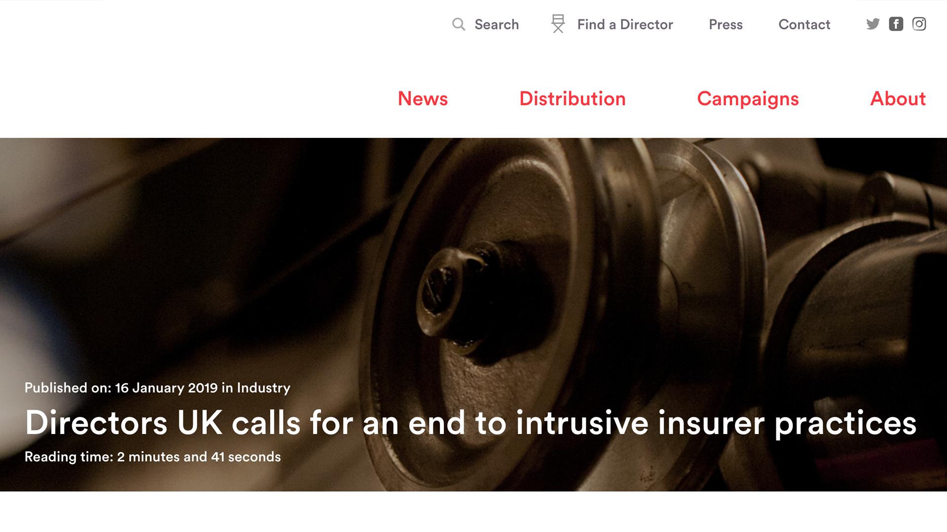 Fairness Rocks News Directors UK calls for an end to intrusive insurer practices