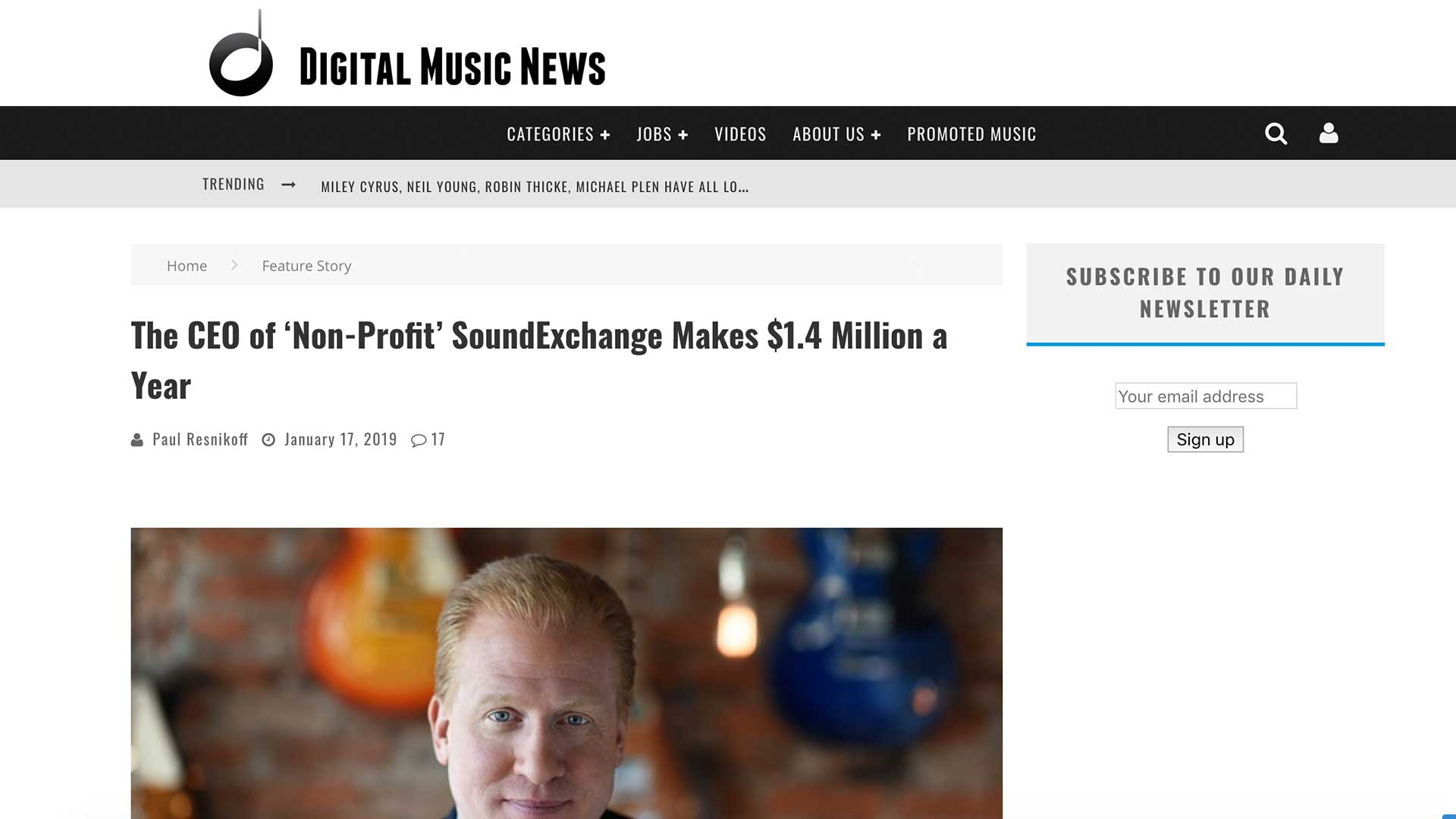 Fairness Rocks News The CEO of 'Non-Profit' SoundExchange Makes $1.4 Million a Year
