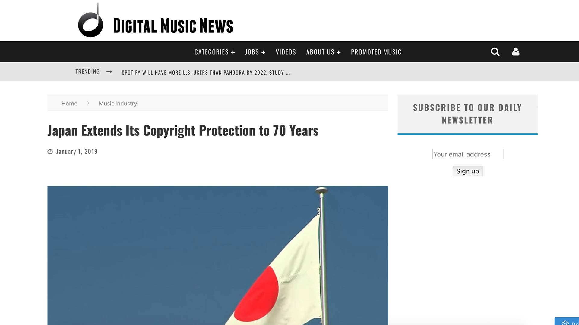Fairness Rocks News Japan Extends Its Copyright Protection to 70 Years