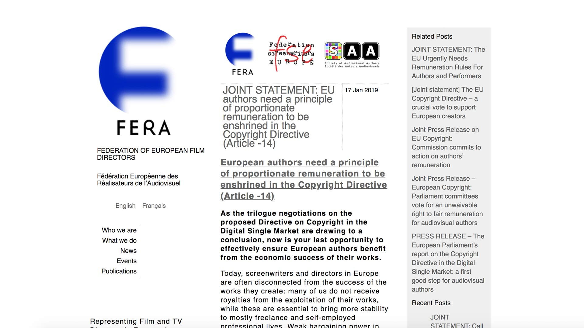 Fairness Rocks News EU authors need a principle of proportionate remuneration to be enshrined in the Copyright Directive (Article -14)