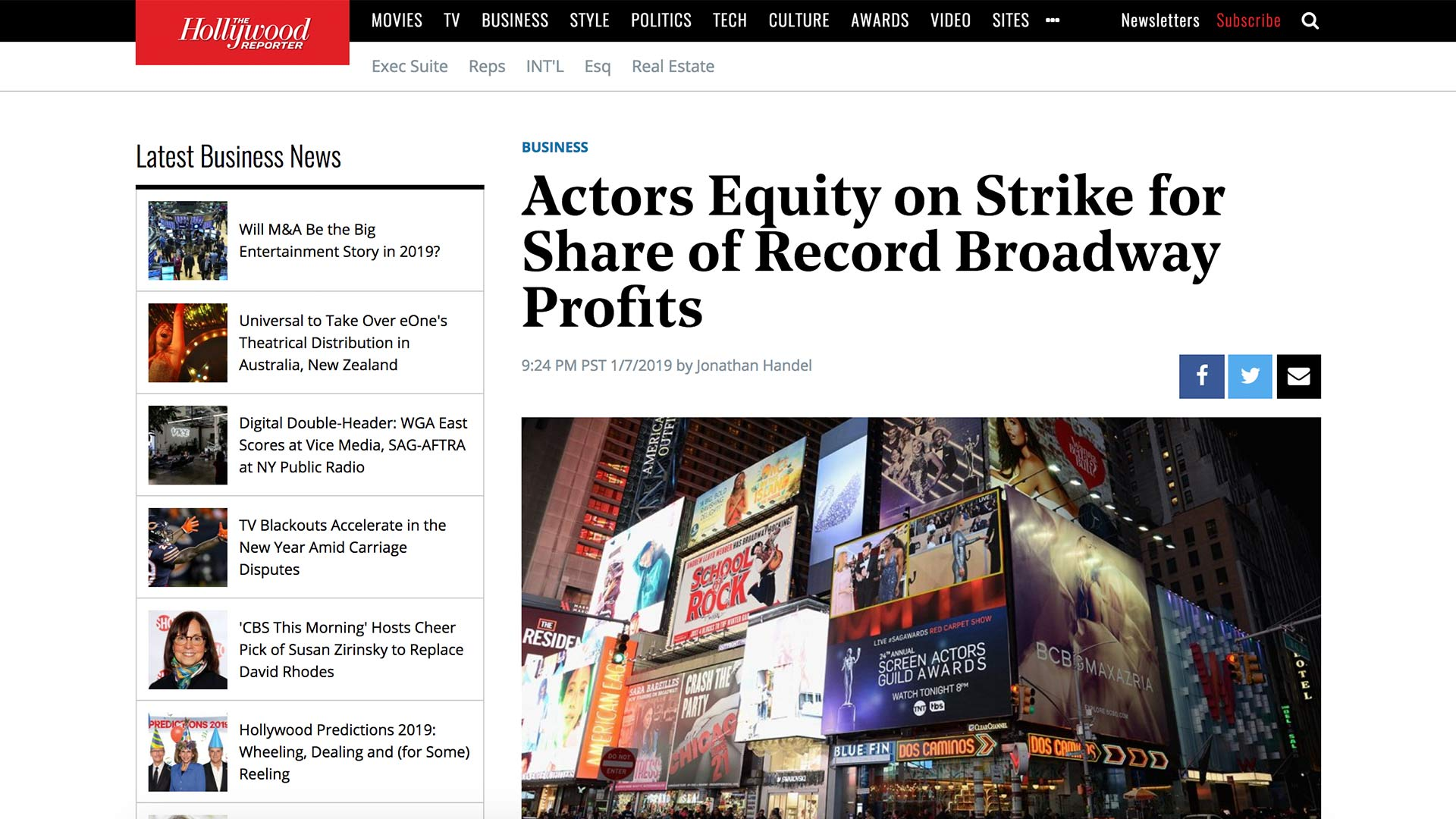 Fairness Rocks News Actors Equity on Strike for Share of Record Broadway Profits