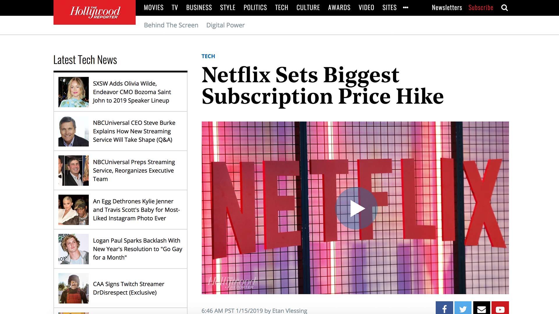Fairness Rocks News Netflix Sets Biggest Subscription Price Hike