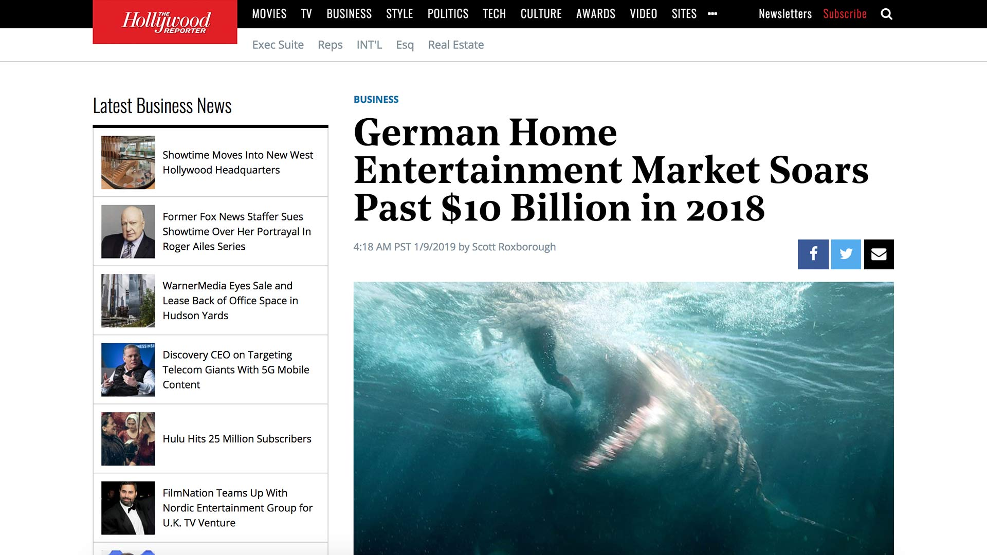 Fairness Rocks News German Home Entertainment Market Soars Past $10 Billion in 2018