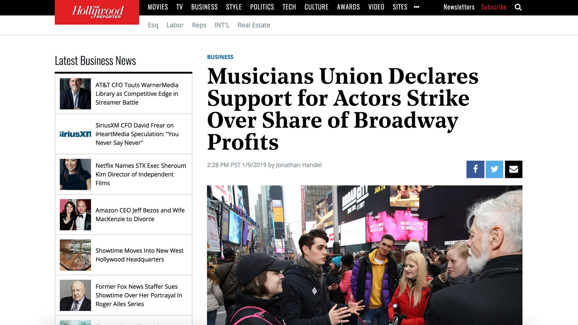 Fairness Rocks News Musicians Union Declares Support for Actors Strike Over Share of Broadway Profits