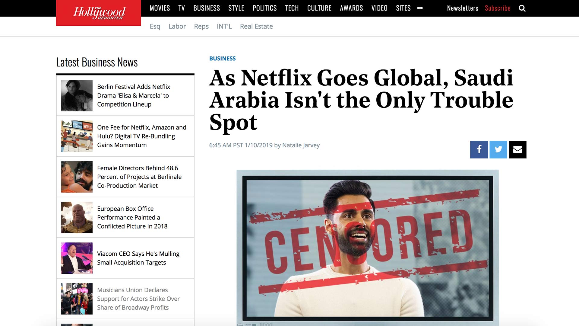 Fairness Rocks News As Netflix Goes Global, Saudi Arabia Isn't the Only Trouble Spot
