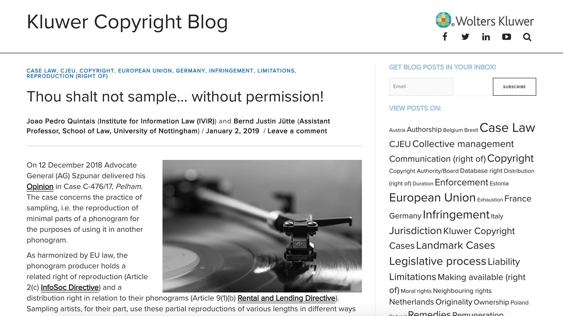 Fairness Rocks News Thou shalt not sample… without permission!