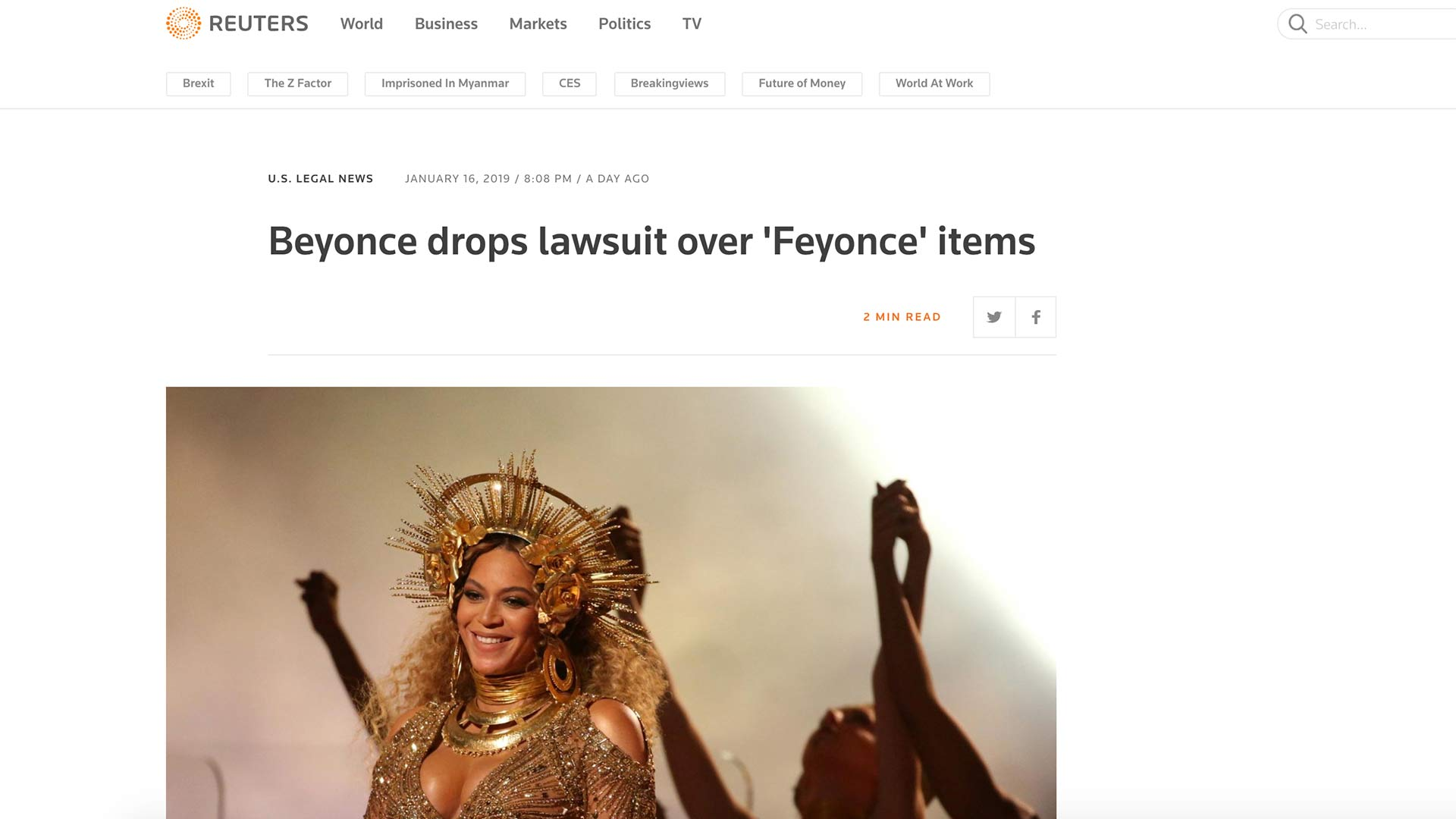 Fairness Rocks News Beyonce drops lawsuit over 'Feyonce' items